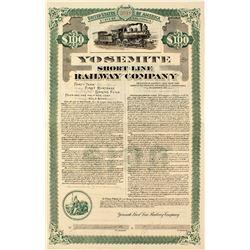 Yosemite Short Line Railway Company Bond