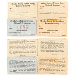 Unused Nevada County RR Passes