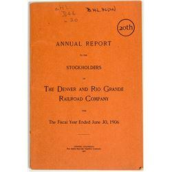 The Denver and Rio Grand Railroad Co Annual Report