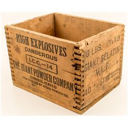 Giant Powder Company Small High Explosives Box