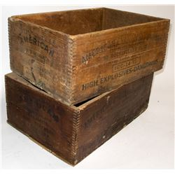 American Cyanamid explosives boxes