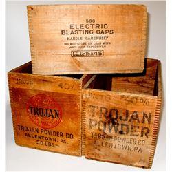 Three Trojan Explosive Boxes
