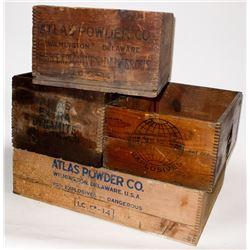 Atlas Powder Co. Wood Boxes
