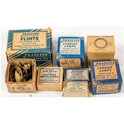Eight Original Justrite Part Boxes