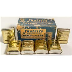 Original Box of Justrite Carbide Pocket Cans