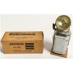 Original Justrite Number 2101 Utility Lantern in Original Box