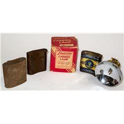 Original Justrite Carbide Lamp in Mint Condition, Original Box