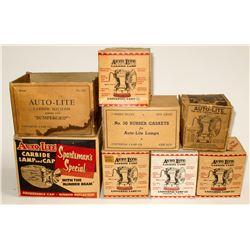 Carbide, Empty Boxes for Autolite Lamps