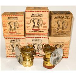 Carbide, Autolite Lamps in Boxes