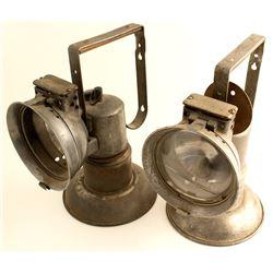 Two Oxweld Acetylene Miners Lamps