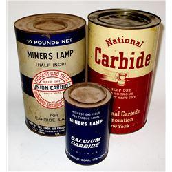 Three Nice Carbide Tins