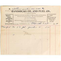 Randsburg Oil Billhead
