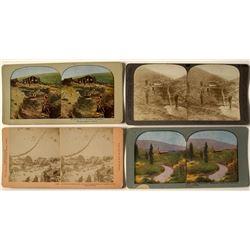 Four Klondike Mining Stereoviews