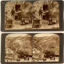 Two Arizona Mining Stereoviews