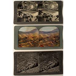 Three Mining Stereoviews
