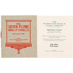 Silver Plume Mines & Tunnel Company Prospectus.