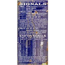 Arizona Mine Bell Signal Sign (First Edition)