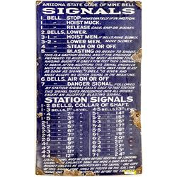 Arizona Mine Bell Signal Sign