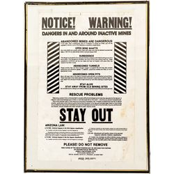 """""""Danger In and Around Inactive Mine"""" Sign"""