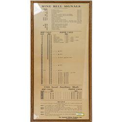 Argonaut Mine, Jackson, California Mine Bell Signal Sign