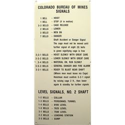 Colorado Bureau of Mines Bell  Signals Sign
