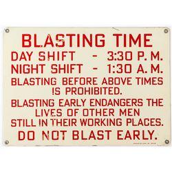 Blasting Metal Sign