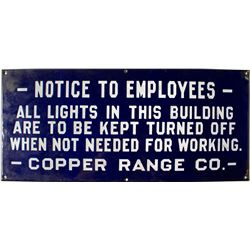 Notice To Employees Mining Sign