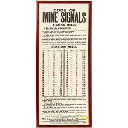 Montana Mine Bell Signal Sign