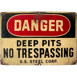 U.S. Steel Danger Sign