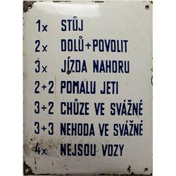 Czech Mining Sign