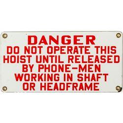"""Red on White """"Danger"""" Sign"""