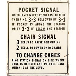 Rare Pocket Bell Signal Sign