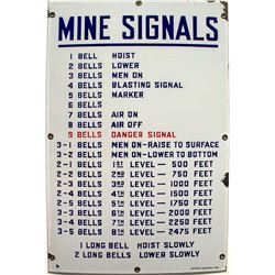 Mine Signals Sign