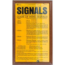 Mine bell Signal Sign Distributed by OSHA