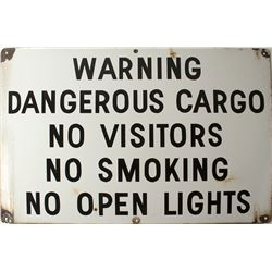 Warning Dangerous Cargo Sign