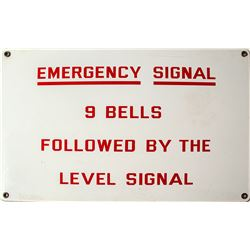 Emergency Signal Sign