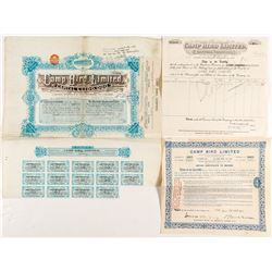 Camp Bird Limited Stock Certificates