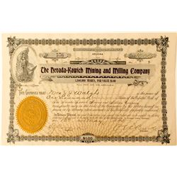 Nevada Kawich Mining and Milling Company Stock Certificate