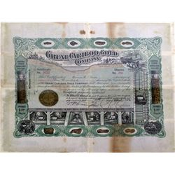 Great Cariboo Gold Certificate