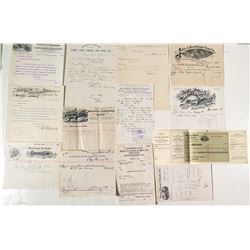 Mining Letterheads--Various Mining Companies