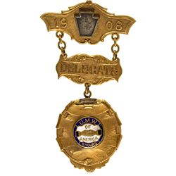 United Mine Workers President''s Badge