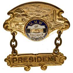 United Mine Workers Delegate Badge