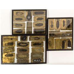19th Century Brass Mine Stencil Templates