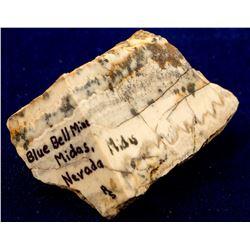 Blue Bell Mine, Midas, Nevada Mineral Specimen