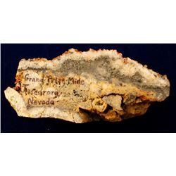 Tuscarora's Most Productive Mine; Grand Prize Specimen