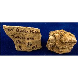 Nevada Queen Mine, Tuscarora, Nevada Specimen