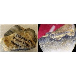 Obiston Mine Gold specimen