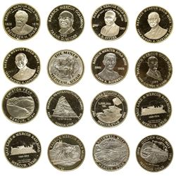 Barrick Mercur Gold Mine Silver Medallion Collection