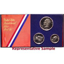 Bicentennial Silver Clad Proof Set and Ike Dollars