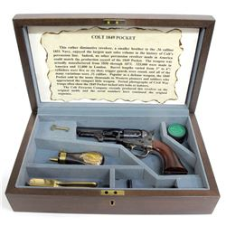 Cased Colt 1849 Pocket Revolver and Accouterments